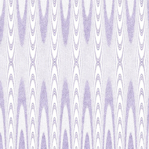 Striped Arches in Velvety Lilac Green and White