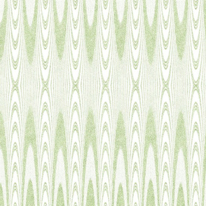 Striped Arches in Velvety Lime Green and White