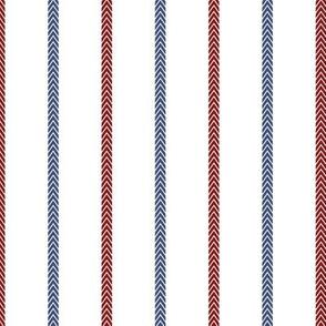 Baseball Ball Stitch Ticking Stripe on White - Sandlot Sports Collection