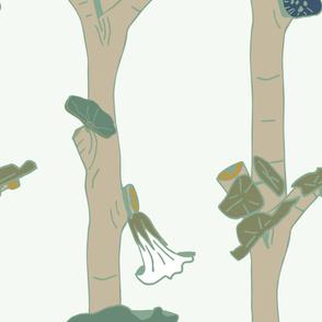 Les bouleaux de juillet vert jade