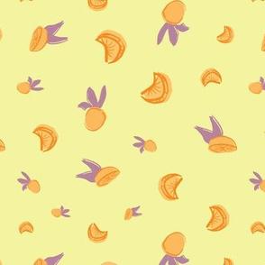 oranges citrus seamless repeat pattern design