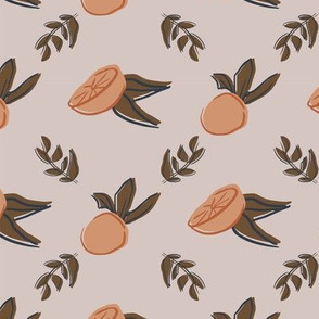 orange leaf seamless repeat pattern deisgn.