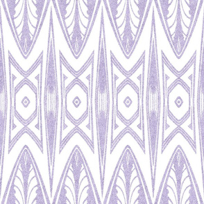 Tribal Shield Pattern in Velvety Lilac and White