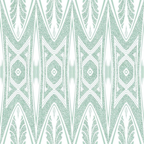 Tribal Shield Pattern in Velvety Soft Green