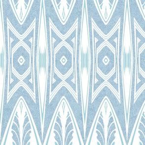 Tribal Shield Pattern in Velvety Powder Blue