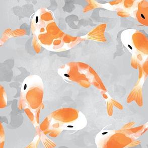 Japanese Koi Fish - Cool Tone