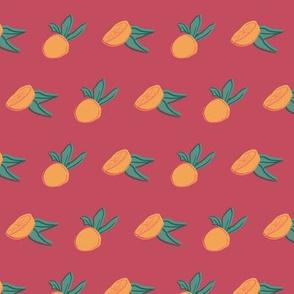 orange leaf seamless repeat pattern design.