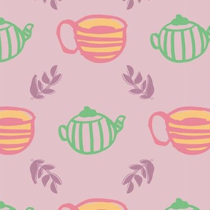 tea seamless repeat pattern design