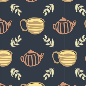 tea seamless repeat pattern design.
