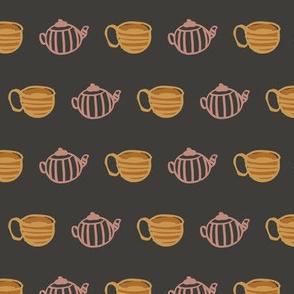 tea mug and cup seamless pattern design