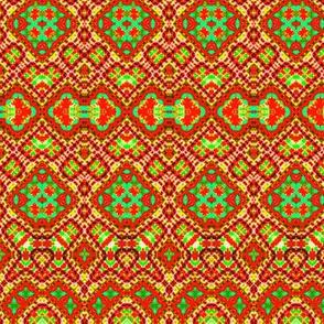 Random Red & Gold Mosaic