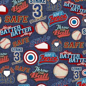 Baseball Lingo on Blue - Sandlot Sports Collection