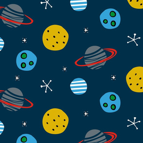 Space planets solar system moon