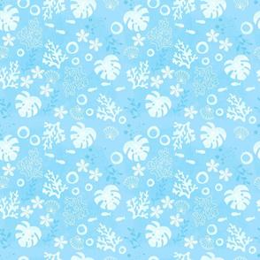 blue aloha coral - small