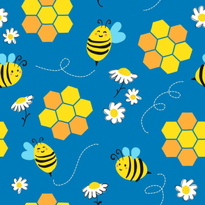 spring bee - blue