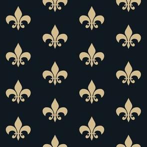 saints fleur de lis - new orleans saints, football, football fabric, fleur de lis fabric, black and gold, gold fleur de lis