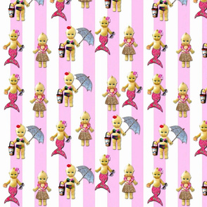 Tropical Cuties pink BadaBlingDigitalArt