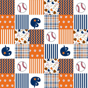 "astros quilt fabric - patchwork, baseball quilt, texas, houston texas fabric, houston astros quilt - 3"" squares"