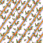 Lot-aKock Pattern Rainbow stripe