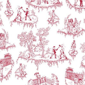 Zombie Toile - Red on White