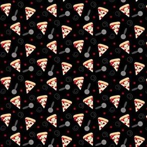 SMALL Happy Pepperoni Friends - Black