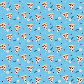 SMALL Happy Pepperoni Pizza Boy - Blue