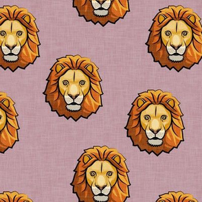 Lion - mauve - LAD19