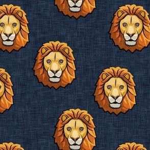 Lion - dark blue - LAD19