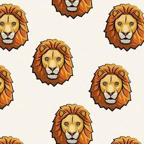 Lion - cream - LAD19