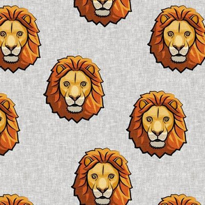Lion - grey - LAD19