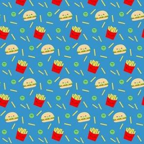 SMALL Happy Hamburger and Fries