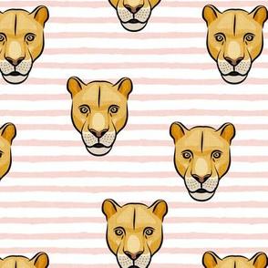 lioness -  pink stripes - LAD19