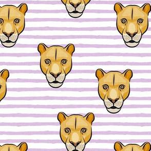 lioness - purple stripes - LAD19
