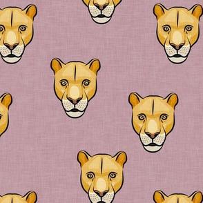 lioness - mauve - LAD19