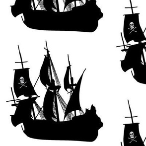 Pirate Ship on White