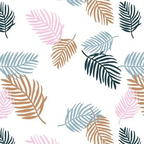 Sweet pastel palm leaf surf island summer vibes boho garden gray blue pink white