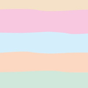 Summer surf stripes and island vibes soft beach sunset pastels pink blush mint