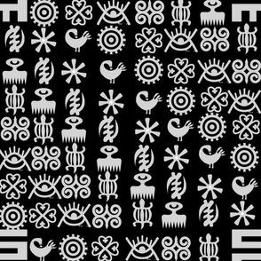 black adinkra symbols
