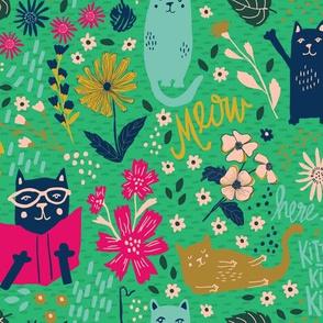 Jolly Kitties - Green