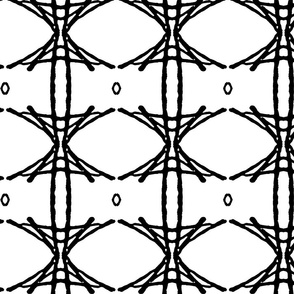 BAMBOO LATTICE medium - Black and White