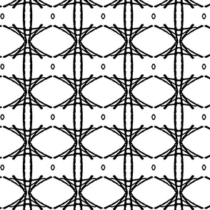 BAMBOO LATTICE small - Black and White