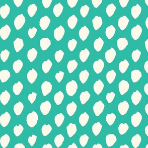 painted dots - teal