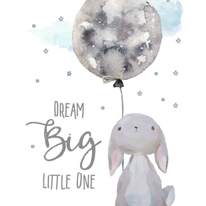 "27""x36"" Dream Big Little One Bunny"
