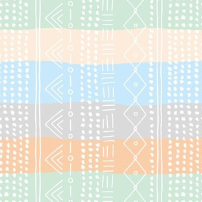 Minimal mudcloth bohemian mayan abstract indian summer love aztec island vibes surf design baby pastel blue mint rainbow