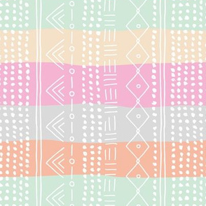 Minimal mudcloth bohemian mayan abstract indian summer love aztec island vibes surf design baby pastel pink rainbow