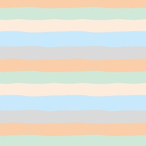 Summer surf stripes and island vibes soft beach sunset pastels gray blue mint SMALL