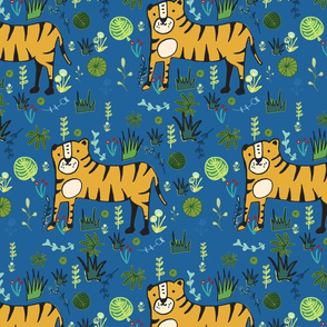 Jungle Tiger Blue