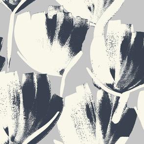 Jumbo flowers gray
