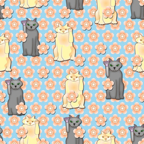 Lucky Cats and Cherry Blossoms