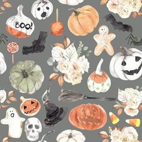 """8"""" Spooky Little Halloween // Gray"""